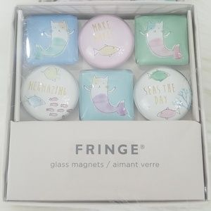 Fringe Glass Magnets x6